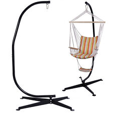 Solid Steel C Hammock Frame Stand Construction Hammock Air Porch Swing Chair New