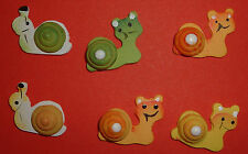 12 Wooden Snails Card Topper Embellishments