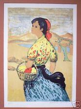 Antoine Serneels Original Colored Lithograph