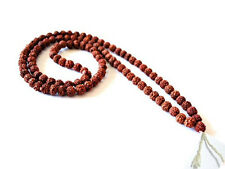 Long Big Tibetan 108 8mm Rudraksha Bodhi Seeds Prayer Beads Mala Necklace -35""