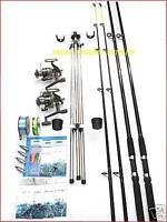 Sea Fishing Kit Set Shakespeare 10ft 2 Rod 2 Reel Tripod Tackle Beachcasters
