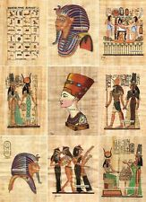 """50 Egyptian Papyrus Paintings 4X6"""" + Over 100 Assorted Scenes + Hand Painted"""