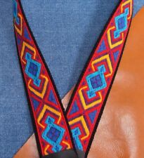 "TAOS Cotton USA made 1-1/2"" A & F-style TROPHY Mandolin Strap"