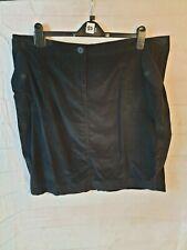 Neues AngebotM&S Black Cotton Corduroy A-Line Mini Skirt Size 16 & 20 Available