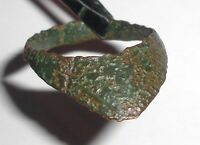 Ancient Roman Empire, 1st - 3rd c. AD. Bronze Archer's Ring, Lion