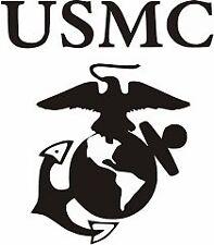 USMC MARINE CORPS EMBLEM decal vinyl car sticker WHITE logo NiCE!!  USA