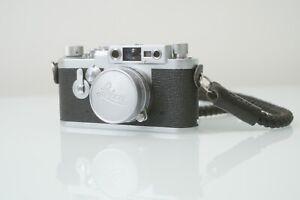 Excellent Leica IIIg 35mm Rangefinder Camera  + ELMAR 50mm 2.8 lens - from UK