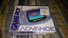 Nintendo Game Boy Advance Glacier Clear GBA Handheld System New Factory Sealed