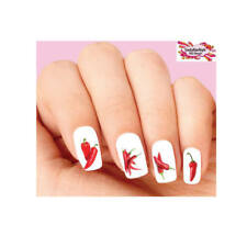 Waterslide Nail Decals Set of 20 - Red Chili Peppers Assorted