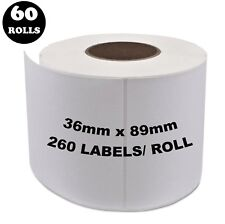 60 Rolls Dymo Seiko Compatible 99012 Labels 36mm x 89mm 260 Per Roll Labelwriter