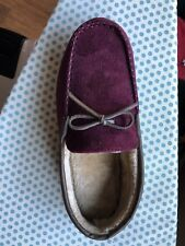 Men's Club Room Hardsole Slippers Maroon Size 9.5/10.5  NIB