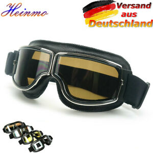 Retro Motorrad Helm Flieger Pilot Brille Flying Glasses Brillen Goggles DHL DE