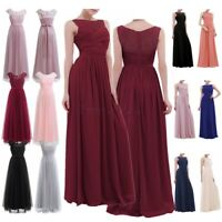 Women Formal Wedding Long Evening Party Bridesmaid Dress Prom Ball Gown Cocktail