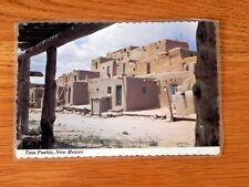 Postcard Taos Pueblo, New Mexico R21