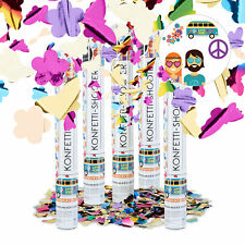 5 X Party Popper Butterflies and Flowers 40 Cm Shooter Confetti Cannon