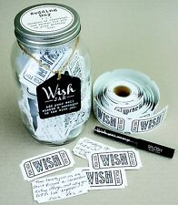Splosh Glass Wish Jar Wedding Day Party Guest Book Wishes & Pen Celebrate Gift
