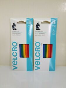 2 packs of Velcro 90438 One-Wrap Straps, Multi Color Rainbow Velcro Wire Ties