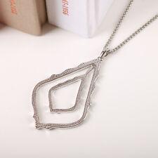Kendra Scott Simon Long Pendant Necklace In Silver NEW