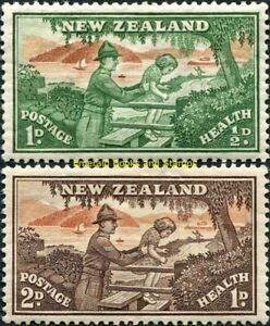EBS New Zealand 1946 Health set - Soldier helping Girl - SG 678-679 MNH**