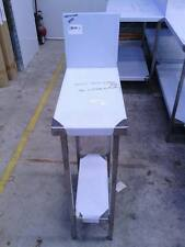 STAINLESS STEEL 300x600mm GRADE 304 COMMERCIAL BENCH WITH A 300mm SPLASH BACK