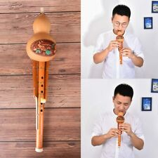 1pc Chinese Traditional Professional Hulusi Bamboo Flute C Key Natural Gourd