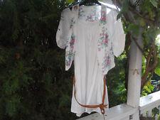 Boho Gipsy Bluse u. weiße Weste, Lagenlock Gr.S,weiß, romantisch,weich ,Blumen