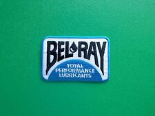 MOTOR RACING OILS, FUELS & TYRES SEW ON / IRON ON PATCH:- BELRAY (a) LUBRICANTS