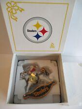 New ListingDanbury Mint Pittsburgh Steelers Rocking Horse Ornament New In Box