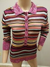Missoni for Target Striped Space Dye Rayon Sweater Blouse Top M