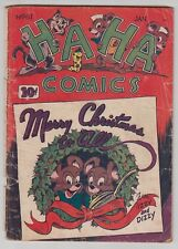 Ha Ha Comics #61,  CHRISTMAS COVER, GOLDEN AGE, 1949 Fair  r