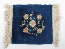 Kleiner Tischläufer Tischteppich China 30,5 x 33 cm • Wolle auf Baumwolle •