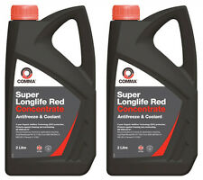 2x Comma Longlife Ford WSS-M97B44-D1 Red Antifreeze Coolant- 2 Litre
