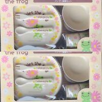 Pickles the Frog Bamboo Tableware Set Of 2 Nakajima Corporation SK Japan Gift