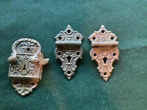antique cast brass ice box hardware