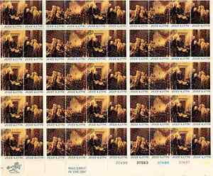 Scott #1691/4...13 Cent...July 4, 1776...Sheet of 50 Stamps