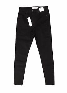 Topshop Jamie Jeans High Waisted Skinny Stretch Black Denim Size 12 W30 L32