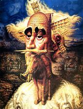Octavio Ocampo art poster Visions of Quioxote canvas print 8.3X11.7 reproduction