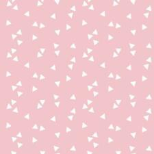 Baumwollstoff Dreiecke Rosa METERWARE Webware Popeline Stoff