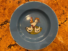 Vintage Enamel Ware Farm House Style Plate With Chickens!