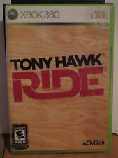 Tony Hawk: Ride  (Xbox 360, 2009) GAME DISC WITH CASE AND BOOKLET ONLY
