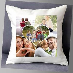 """LOVELY PERSONALISED CUSHION COVER 16""""x16""""  PHOTO COLLAGE HAPPY BIRTHDAY PRESENT"""