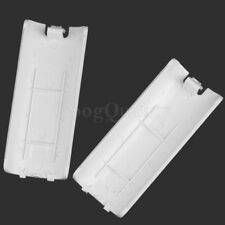 2 Pcs Wireless Battery Back Door Shell Cover Case Lids Wii Remote Controllers