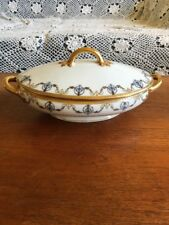 Vintage Jean Pouyat Limoges France Porcelain Tureen Vegetable Dish POY379