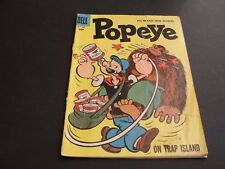 "POPEYE- The Sailor on ""Trap Island!"" #42 Dell 1957 10 CENT Silver Age -Comic."