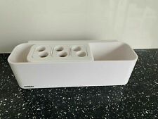 Electric Toothbrush Holder Bath Wall Mounted Toothpaste Caddy Stand Organizer