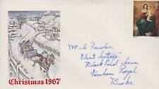 GB 1967 ILLUSTRATED FIRST DAY COVER CHRISTMAS ISSUE SG757