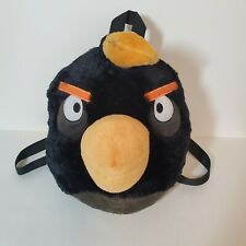 Childrens Angry Birds Black The Bomb Plush Backpack/Pajama Bag Zipper Pouch
