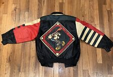 Vintage Mickey Mouse 1955 World Champs Leather Jacket