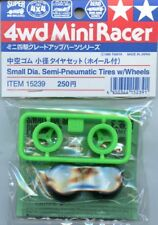 Tamiya 4WD Mini Racer Small Dia. Semi-Pneumatic Tires w/ Wheels 2 Pack #15239