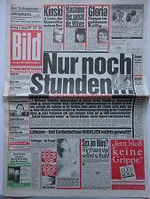 Bild Zeitung, vom 15.1.1991, Klaus Kinski, Fürstin Gloria, Karen Brennan??